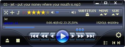 JMediaPlayer skin: Vista WMP11 style, by jocker